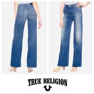 True Religion High Rise Ava Wide Leg Jeans SZ 27